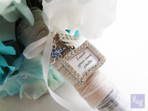 Bouquet Charm - DIY Rhinestones Blank (Silver) - Mitchell Design