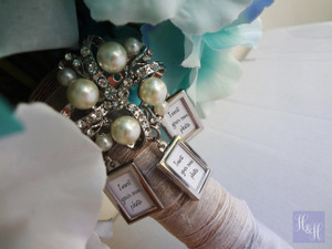 Bouquet Charm/Brooch - DIY Rhinestones & Pearls - (Triple) Edna Design