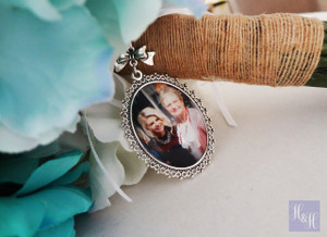 Bouquet Charm (Large Oval) - Emily Design w/bow
