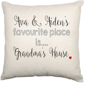 Personalised Cushion Cover (Favourite Place)