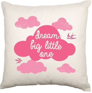 Personalised Baby Cushion Cover (Pink Cloud)