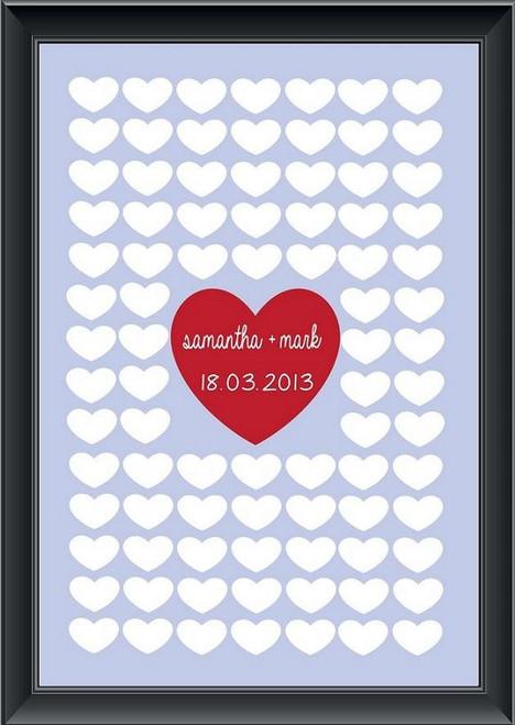 Personalised Big Heart Guestbook