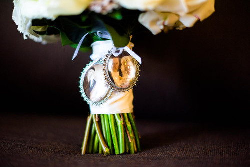 Bouquet Charm (Large Oval) - Emily Design