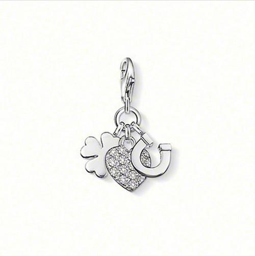 Lucky clover, horseshoe and heart