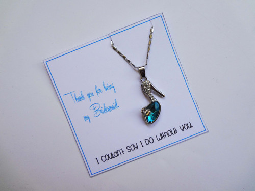 Shoe Necklace - Thank you
