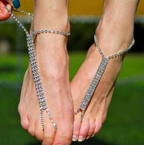 Rhinestone Barefoot Sandals