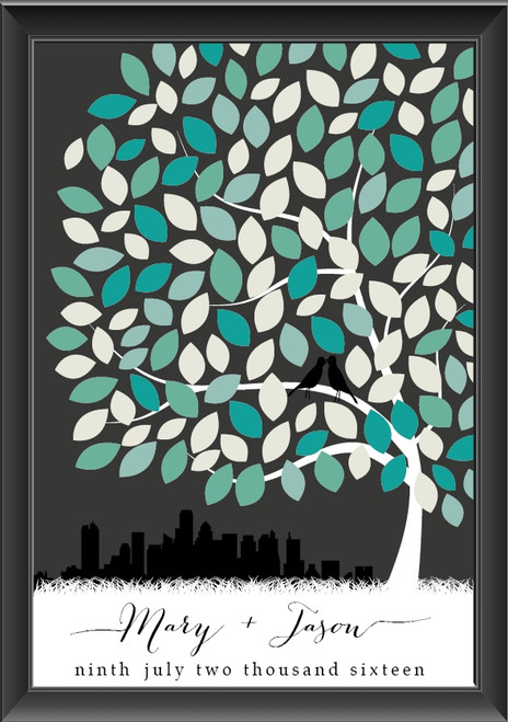 Personalised Tree Guestbook - Beverley Design