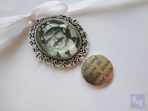 """Bouquet Charm (Oval w/ """"Missing you"""" charm)- Indiana Design"""