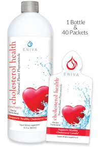 Eniva Cholesterol Health Liquid Plant Phytosterols is a natural solution to support healthy cholesterol levels and weight management through the use of solubilized plant phytosterols.**Supports weight management, natural mealtime aid, controls fat and calories, limits fat transport before being absorbed into the body, Product ID # 32005