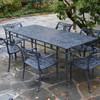 "Filigree Design 35"" x 84""Rectangular Dinning Table with 4 Post Legs"