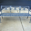 Filigree Design Star and Dolphin Triple Settee