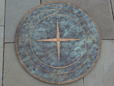 Custom bronze directional marker for New Orleans, LA
