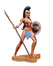 wonder woman art of war statue amanda conner
