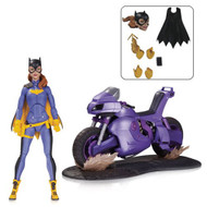 dc comics icons batgirl with motorcycle