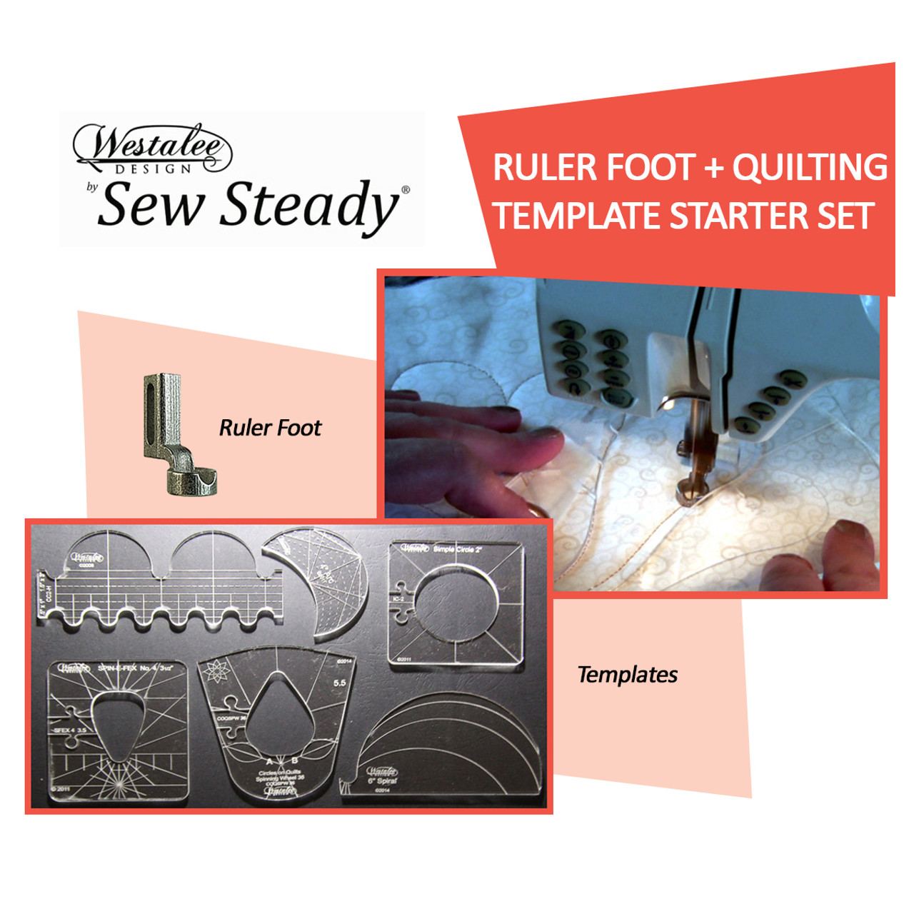 Sew Steady Westalee Quilting foot & Template Starter Package USD 130.00 - FREE SHIPPING!