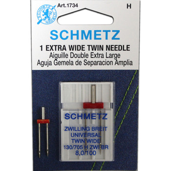 Schmetz Twin Needle / Larger Size - Size 8.0/100