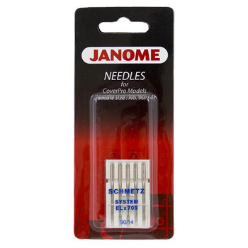 Schmetz ELx705 Size 14, 5 of Pack Needles for Janome Cover Pro Models