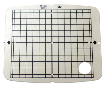 """Janome Hoop Template only 126mm x 110mm (4.96"""" x 4.33"""") for the MB4, M2 Hoop"""