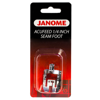 """Janome Acufeed 1/4"""" Seam Foot for MC 7700, 6600P, Elna 740 and 720"""