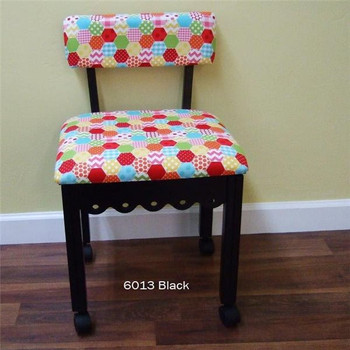 Arrow 6013 Chair in Black Finish and Hexi Print Fabric