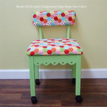 Arrow 6014 Chair In Pistachio Green Finish And Hexi Print Fabric