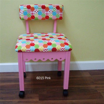 Arrow 6015 Chair In Pink Finish And Hexi Print Fabric