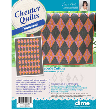 Diamonds Cheater Quilt