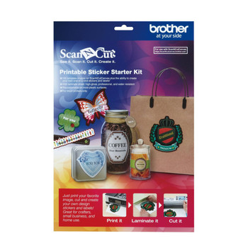 Brother ScanNCut Printable Sticker Starter Kit