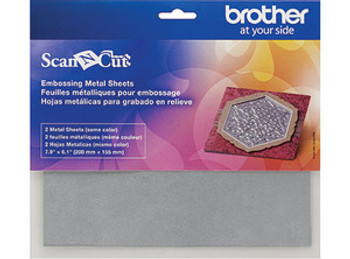 Brother ScanNCut Embossing Silver Metal Sheets