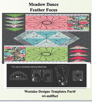 Sew Steady Meadow Dance Feather Focus Template Set