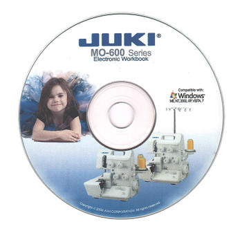 Juki MO-600 Series Instructional Interactive Electronic Workbook CD