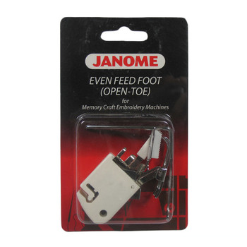 Janome Memory Craft Embroidery Machine Open Toe Even Feed with Quilt Guide