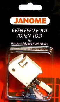 Janome Top-Load - Even Feed Foot (Open Toe) with Quilt Guide