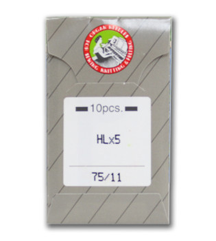 Organ HL X 5 Needles for Juki TL Series, Janome 1600P &1600P-QC Sz 75/11
