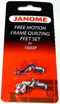 Janome Convertible Free Motion Frame Quilting and Ruler Foot Set