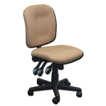 Horn of America Sewing Chair Tan Upholstery with Black Base