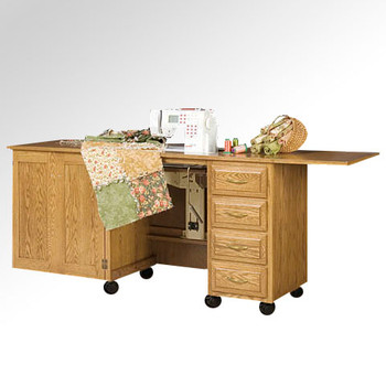 Schrocks of Walnut Creek Larger Standard Cabinet in Real Oak Wood and Your Choice of Stain Open