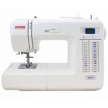 Janome 8077 Computerized Sewing Machine with Exclusive Bonus Bundle