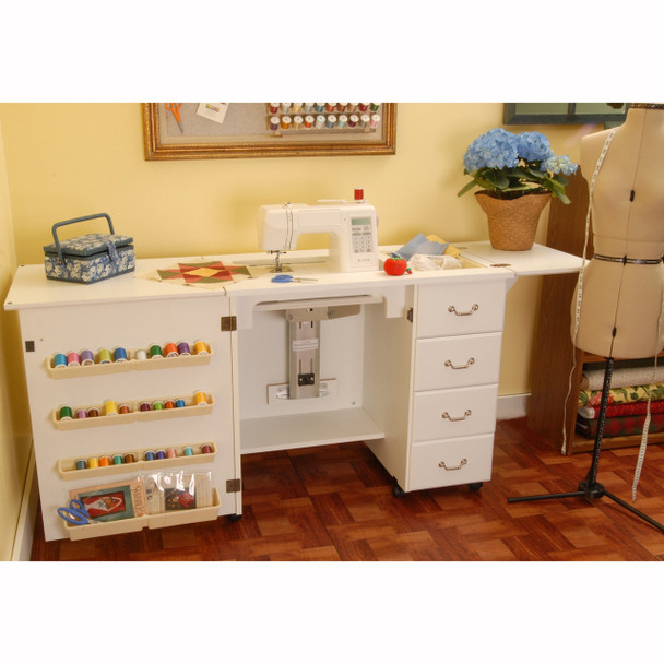 Arrow Norma Jean Model 351 Sewing Cabinet In White