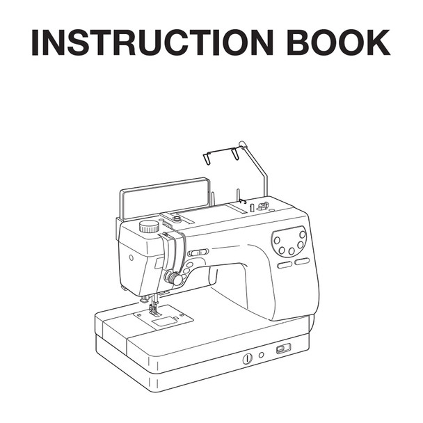 Janome Memory Craft 6300P Sewing Machine Included Instruction Manual