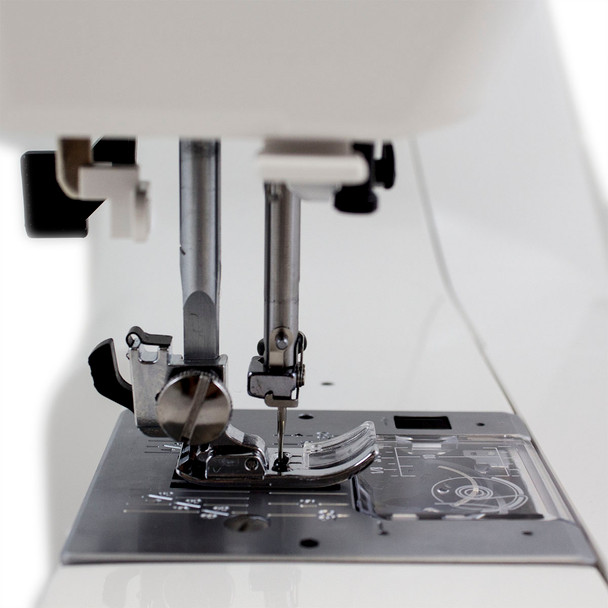 Janome HD3000 Refurbished Sewing Machine - Foot and Plate Side View