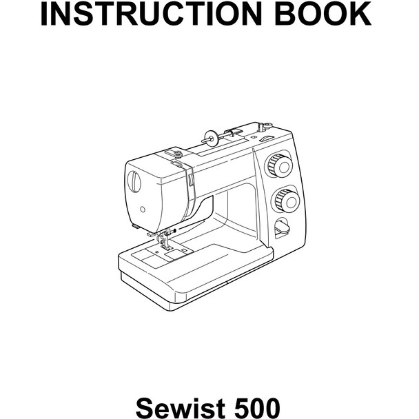 Janome Sewist 500 Sewing Machine Included Instruction Manual