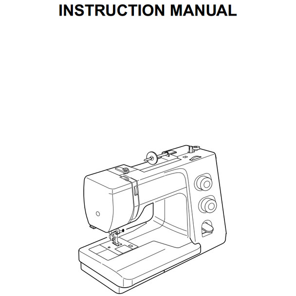 Janome Magnolia 7318 Sewing Machine Included Instruction Manual