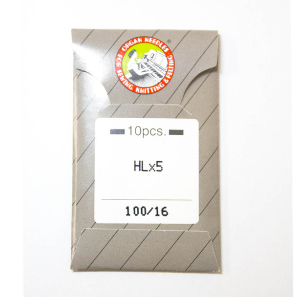 Organ HL X 5 Needles for Juki TL Series, Janome 1600P/1600P-QC Sz 100/16