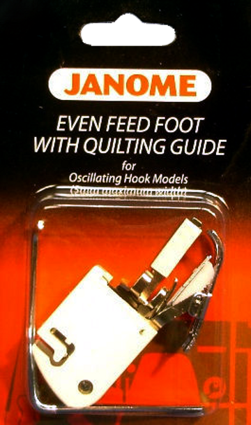 Janome Front-Load - Even Feed Foot with Quilt Guide