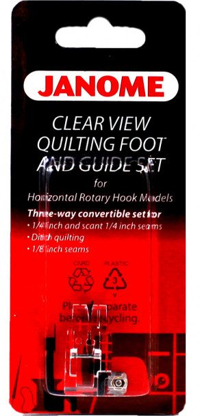 Janome Top Load Clear View Quilting Foot and Guide Set