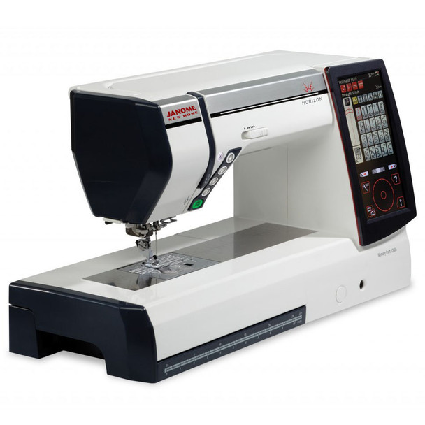 Janome Horizon Memory Craft 12000 Embroidery and Sewing Machine - Quarter View