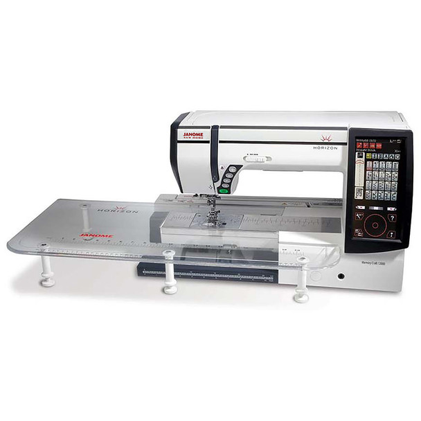 Janome Horizon Memory Craft 12000 Embroidery and Sewing Machine - Extra Wide Table