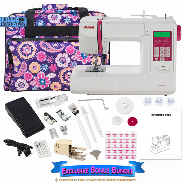 Janome DC5100 Computerized Sewing Machine with Bonus Bundle