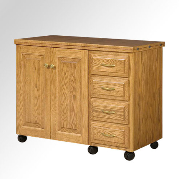 Schrocks of Walnut Creek Larger Standard Cabinet in Real Oak Wood and Your Choice of Stain Closed